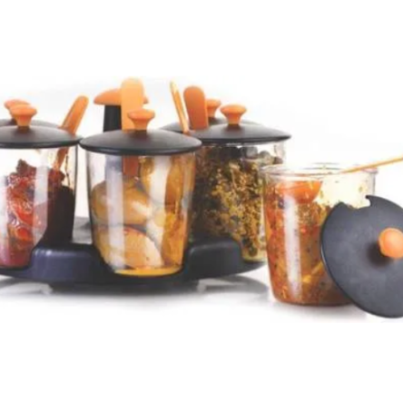 360 Degree Revolving Achar with Masala Stand